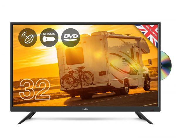 Cello-C32F-HD-Ready-12V-TV-w/-Built-in-DVD-Player-&-Satellite-Tuner-Traveller-TV