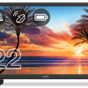 Cello-C22227T2S1-22-inch-Battery-Powered-&-Solar-LED-TV-with-Freeview-T2-HD-&-Satellite-Tuner-Black-[Energy Class A]